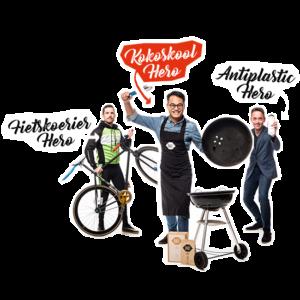 Helden: Fietskoeriers Apeldoorn, BAST BBQ & Tulper