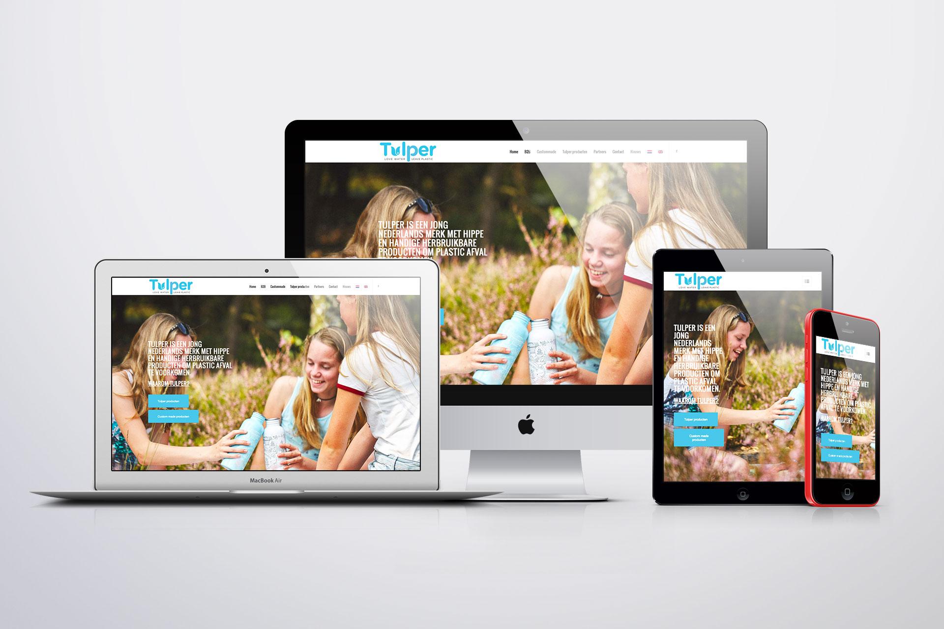 Tulper Portfolio Website Mockup