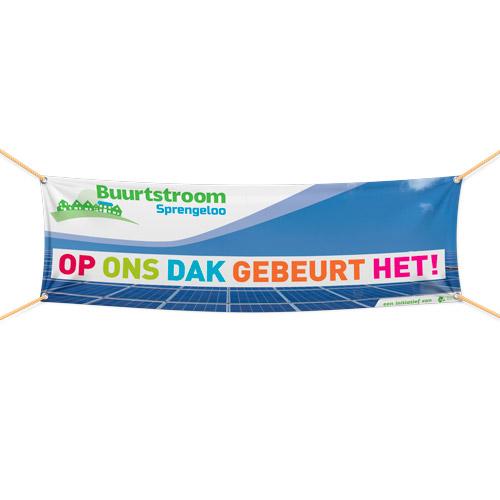 Buurtstroom banner / spandoek