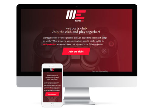 Website weSports.club Imac
