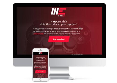 Website weSports.club Imac